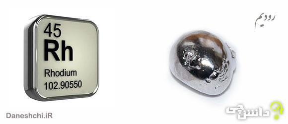 عنصر رودیم Rh 45، عنصری از جدول تناوبی