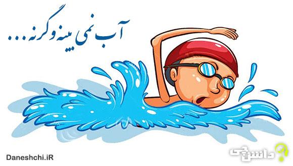 آب نمی بینه و گرنه شناگر قابلیه
