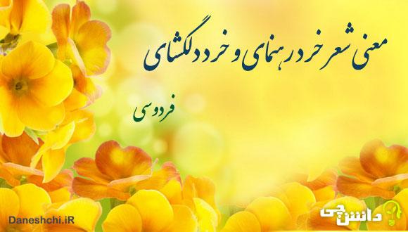 معنی شعر خرد رهنمای و خرد دلگشای از فردوسی