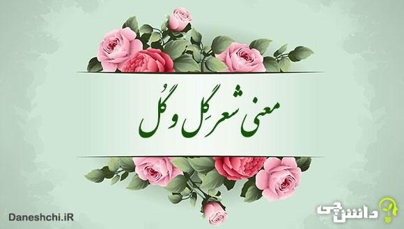معنی شعر گل و گل