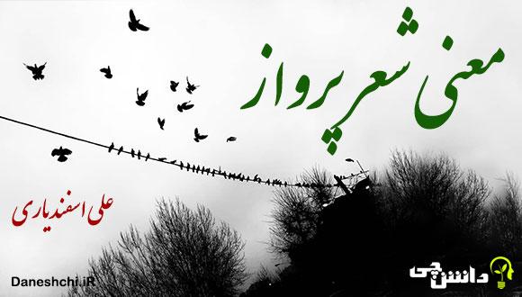معنی شعر پرواز از علی اسفندیاری