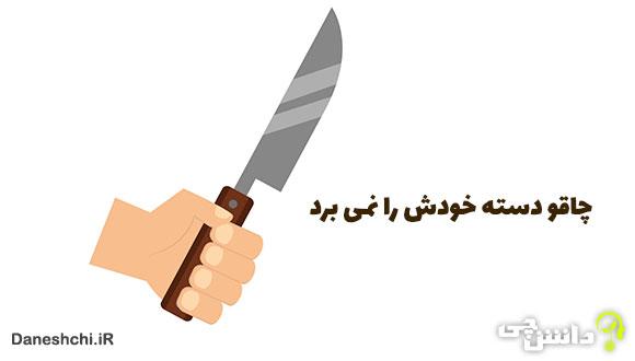 معنی چاقو دسته خودش را نمی برد